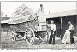 """WWI - C P A  """" Déchargement De Nos Biscuits """" D'un P G Français Au Camp De Puchheim ( Bavière ) - WW I"""