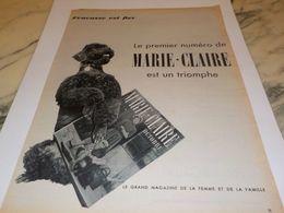 ANCIENNE PUBLICITE FRACASSE EST FIER  MAGAZINE  MARIE CLAIRE 1954 - Posters