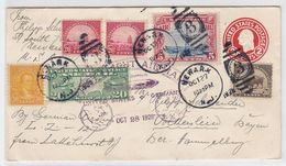 Zeppelin Mit Bunter Frankatur Nach Völkersleier - Storia Postale