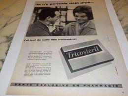 ANCIENNE PUBLICITE PANSEMENT TRICOSTERIL  1959 - Altri