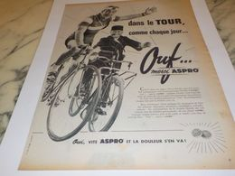 ANCIENNE PUBLICITE DANS LE TOUR  MERCI  ASPRO 1957 - Altri