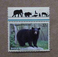 NY04-01 : Nations-Unies (New-York) / Protection De La Nature - Ours Noir Américain (Ursus Americanus) - Unused Stamps
