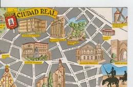 Postal 6619 : Plano Ciudad Y Monumentos De Ciudad Real - Cartes Postales