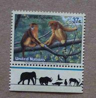 NY04-01 : Nations-Unies (New-York) / Protection De La Nature - Singe Rhinopithèque De Roxellane  (Pygathrix Roxellana) - Unused Stamps