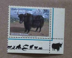 NY04-01 : Nations-Unies (New-York) / Protection De La Nature - Yack Sauvage (Bos Mutus) - Unused Stamps