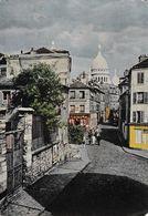 PARIS -MONTMARTRE RUE NORVINE ET SACRE COEUR ,COULEUR REF 66835 - Arrondissement: 18