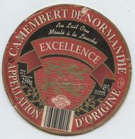 Etiquette Fromage, Camembert, Orbec,fromagerie, Excellence,Normandie, Collé Sur Le Couvercle - Cheese