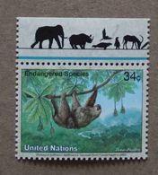 NY02-01 : Nations-Unies (New-York) / Protection De La Nature - Unau D'Hoffman Ou Paresseux D'Hoffman - Unused Stamps