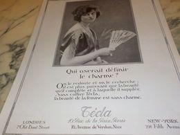 ANCIENNE PUBLICITE DEFINIR LE CHARME TECLA 1925 - Bijoux & Horlogerie