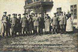 RPPC 17*12cm KRAGUJEVAC KRAGUJEWAC  SERBIEN DER EROBERER GENERAL GALLWITZ   Paul Hoffmann 1914/15  WWI WWICOLLECTION - Serbia