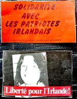 IRLANDE  POLITIQUE 2 TRACTS PROSPECTUS  CONTRE LE REGIME ET POUR LA LIBERATION ANNEES 1980 AUTOCOLLANTS ANCIENS - Other