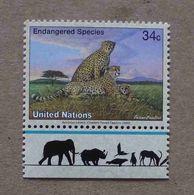 NY02-01 : Nations-Unies (New-York) / Protection De La Nature - Guépard (Acinonyx Jubatus) - Unused Stamps