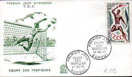CENTRAFRIQUE A 009 Fdc Coupe Des Tropiques, Football - Football