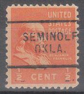 USA Precancel Vorausentwertung Preo, Locals Oklahoma, Seminole 703 - United States