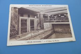 """FELIX ROUSSEL"" ...1ERE CLASSE ..LA PISCINE - Dampfer"