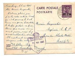 Lux177 / LUXEMBURG - Mi.Nr. P126 Am 7.5.45 (1 Tag Vor Kriegsende) Nach Paris - Briefe U. Dokumente