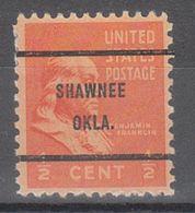 USA Precancel Vorausentwertung Preo, Bureau Oklahoma, Shawnee 803-61 - United States