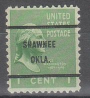 USA Precancel Vorausentwertung Preo, Bureau Oklahoma, Shawnee 804-61 - United States