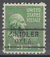 USA Precancel Vorausentwertung Preo, Locals Oklahoma, Shidler 729 - United States