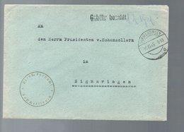GAMMERTINGEN-Dreuss Fornamt 10.10.1945 Gebühr Bezahlt 12 Pf > Hohenzollern (Re-gb-32) - Gemeinschaftsausgaben