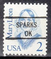 USA Precancel Vorausentwertung Preo, Locals Oklahoma, Sparks 841 - United States