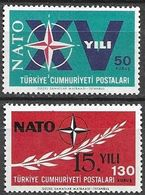 Turquia 1964  Mi 1899-1900 ** Mnh - 1921-... República