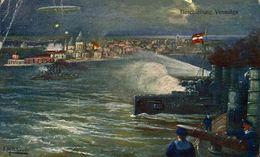 Beschiessung Venedigs.   WWI WWICOLLECTION - Weltkrieg 1914-18