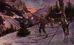Skipatrouille In Den Dolomiten.   WWI WWICOLLECTION - Guerra 1914-18