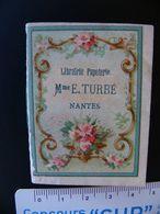 Petit Almanach 1890 Librairie Papeterie Mme E.TURBE NANTES Loire Atlantique Très Bon état Population : 38 212 903 Habts - Kalender