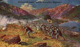 Sturmangriff Unseres Tapferen Warasdiner Regimentes.   WWI WWICOLLECTION - Weltkrieg 1914-18