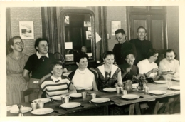 SONGIEU AIN COLONIE FRANC JOIE 1954 PHOTO ORIGINALE 17 X 11.50 CM AVEC LISTE DES PERSONNES - Orte