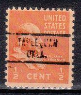USA Precancel Vorausentwertung Preo, Locals Oklahoma, Tahlequah 734 - United States