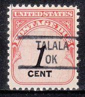USA Precancel Vorausentwertung Preo, Locals Oklahoma, Talala 841 - United States