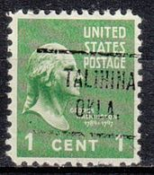 USA Precancel Vorausentwertung Preo, Locals Oklahoma, Talihina 721 - United States