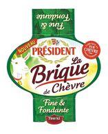 ETIQUETTE De FROMAGE..BRIQUE De CHEVRE PRESIDENT..fabriqué En POITOU CHARENTES - Cheese