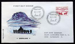 Greenland 1981 Kunst  MiNr.128  FDC ( Lot Ks) - FDC