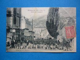 O5.  BRIANCON   HALTE DE CHASSEURS  ANIMEE  VOYAGEE 1907 TIMBREE - Briancon