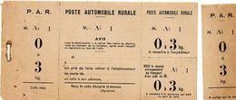 C11 1932 Poste Rurale Automobile  Bulletin De Commande Neuf 0 A 3 KG - Marcophilie (Lettres)