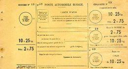 C11 1932 Poste Rurale Automobile  Bulletin De Commande Neuf 10 A 25 KG - Marcophilie (Lettres)