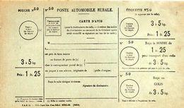 C11 1932 Poste Rurale Automobile  Bulletin De Commande Neuf 3 A 5 KG - Marcophilie (Lettres)