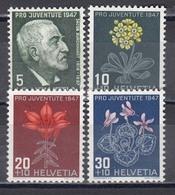 Switzerland 1947 - Pro Juventute, Mi-Nr. 488/91, MNH** - Neufs