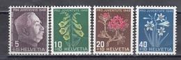 Switzerland 1948 - Pro Juventute:Flowers, Mi-Nr. 514/17, MNH** - Neufs