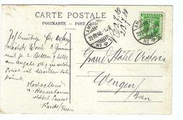 SUISSE 1908: CP Illustrée De Faido Pour Wengen, Affr. De 5c Avec Le ZNr.103, Obl. CAD ''Ambulant'' - Suiza
