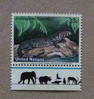 NY00-01 : Nations-Unies (New-York) / Protection De La Nature - Lézard-crocodile De Chine (Shinisaurus Crocodilurus) - Unused Stamps