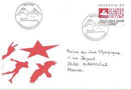 1998 Candidature De Sion (Suisse) Aux Jeux Olympiques D'Hiver De 2006: :FDC + Courrier Du Comité De Candidature - Winter 2006: Turin
