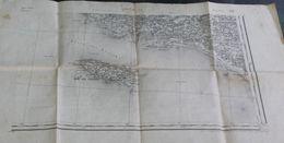 Carte Ancienne Lorient Sud Est île De Groix Type 1889 Révisée En 1895 Gravée Par Gauché Hacq Godart - Cartes Géographiques