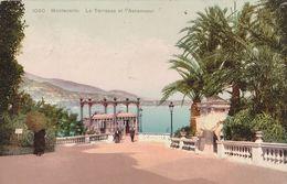 Cartolina - Postcard /  Viaggiata - Sent /  Montecarlo, La Terrazza Dell'ascensore. - Terrassen