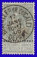 """COB N° 53 - Oblitération CONCOURS """" BRUXELLES DEPART (R. DUCALE)"""" - 1893-1900 Schmaler Bart"""