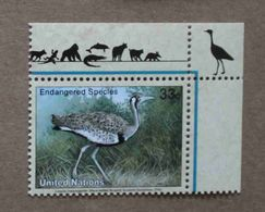 NY00-01 : Nations-Unies (New-York) / Protection De La Nature - Outarde à Ventre Noir (Lissotis Melanogaster) - Unused Stamps