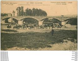 81 LABRUGUIERE. Les Chevaux à L'Abreuvoir Militaires. Timbre Taxe 1906 - Labruguière